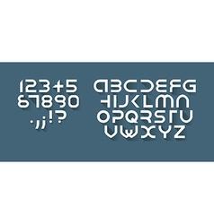 Flat font vector