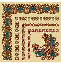 Floral vintage frame design set vector