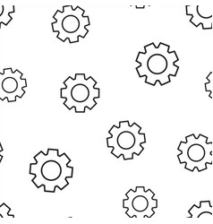 gear cog wheel icon seamless pattern background vector image