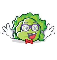Geek lettuce character cartoon style vector