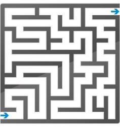 gray maze vector image