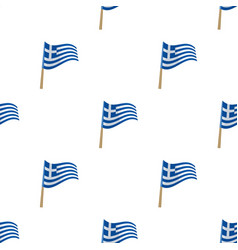 Greek flag icon in cartoon style isolated on white vector