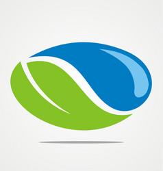 green leaf bio ecology logo vector image