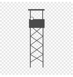 guard tower icon simple style vector image