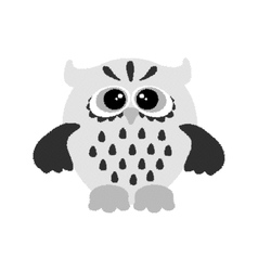 Hand drawing graphics owl Dotwork vector image