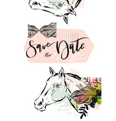 hand drawn abstract modern boho tropical vector image