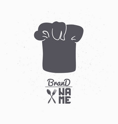 hand drawn silhouette of chef hat vector image