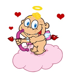 Happy Baby Cupid vector image