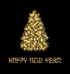 happy new year black postcard vector image