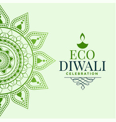 Happy organic diwali festival greeting concept vector