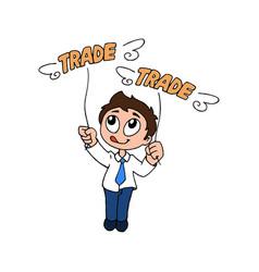 Happy trader vector