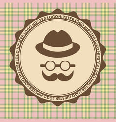 hipster style hat glasses wool on a light vector image