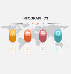 infographic design template with cylinder elements vector image