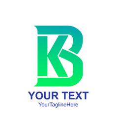 Initial letter kb or bk logo design template vector