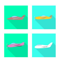 Isolated object travel and airways logo vector