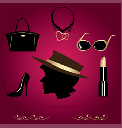 Ladys accessories vector