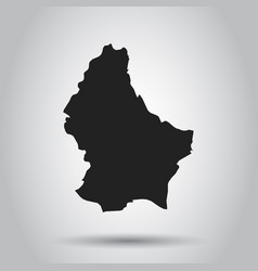 Luxembourg map black icon on white background vector