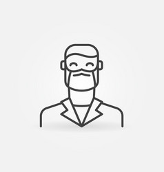 man doctor in face mask outline concept vector image