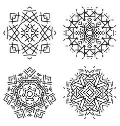 Mandala flat set vector