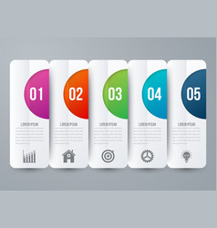 Modern infographic five options vector