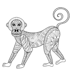 Monkey Zentangle Monkey vector image