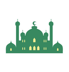 Mosque and minarets colorful vector