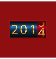 New Year counter 2013 2014 Isolated vector image