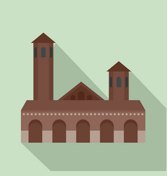 old building icon flat style vector image