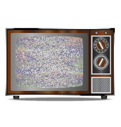 Old television static vector