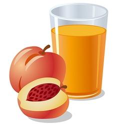 Peach juice vector