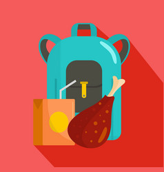 Pupil lunch icon flat style vector