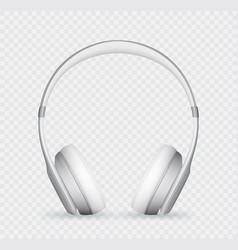 Realistic headphone vector