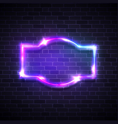 Realistic neon led lights frame game show signage vector