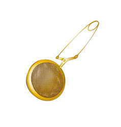 Realistic tea strainers gold object isolated vector