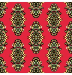 Red Unusual Seamless Pattern vector image