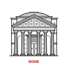 Rome landmark vector