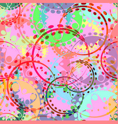 seamless texture of pastel pink gears and laurel vector image