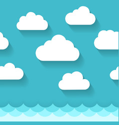 seascape with clouds pattern vector image