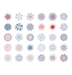 set fireworks design on white background vector image
