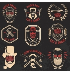 Set of Barber shop emblems vector