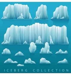 Set of icebergs and sea vector image