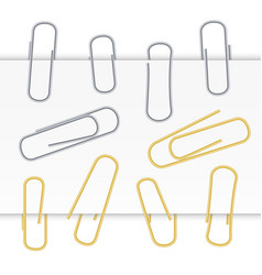 Small binder clips isolated on white vector