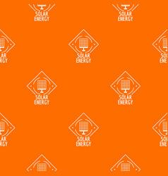 solar energy pattern orange vector image