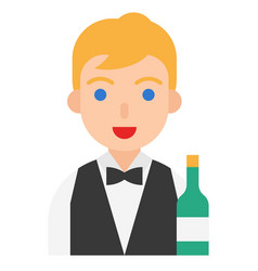 Sommelier icon profession and job vector