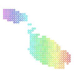 Spectral cirle dot malta island map vector