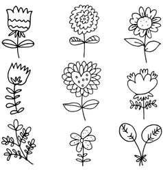 Spring flower set vector