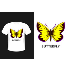 t-shirt with the image of a butterfly vector image