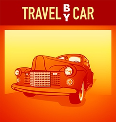 Travel by car vector