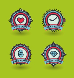 Trendy badges vector