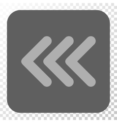Triple Arrowhead Left Rounded Square Button vector